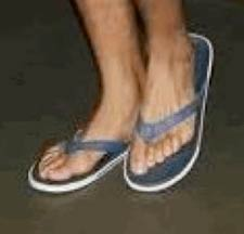 Flip flops are bad for your feet.